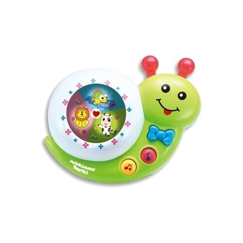 Развивающая игрушка Shantou Gepai Улитка, зеленый