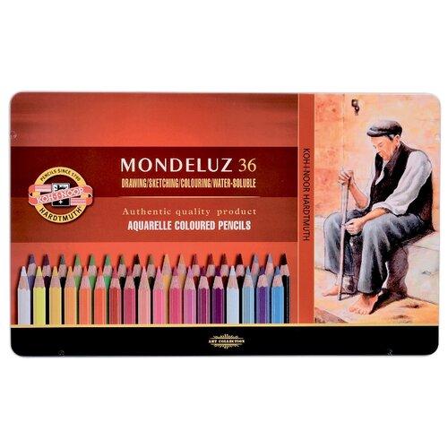 Купить KOH-I-NOOR Акварельные карандаши Mondeluz, 36 цветов (3725036001PL), Цветные карандаши