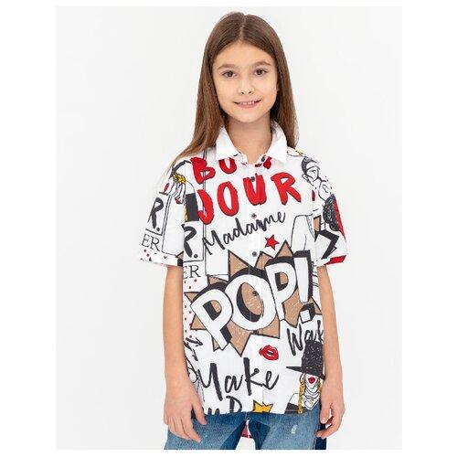 Купить Рубашка Gulliver размер 146, белый, Рубашки и блузы