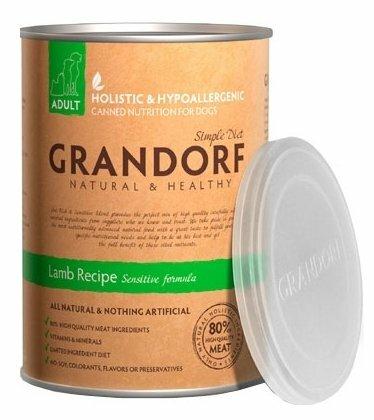 Корм для собак Grandorf (0.4 кг) 1 шт. Ягнёнок для взрослых собак всех пород