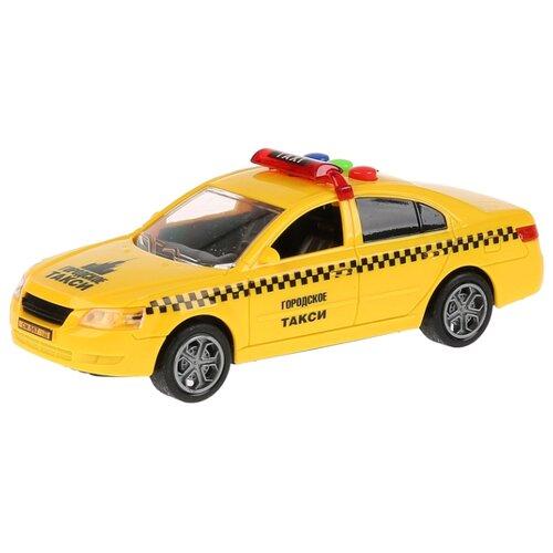 Легковой автомобиль ТЕХНОПАРК Седан Такси (1725835-R) 14.5 см желтый автомобиль технопарк гонки цвет в ассортименте ebs868 r