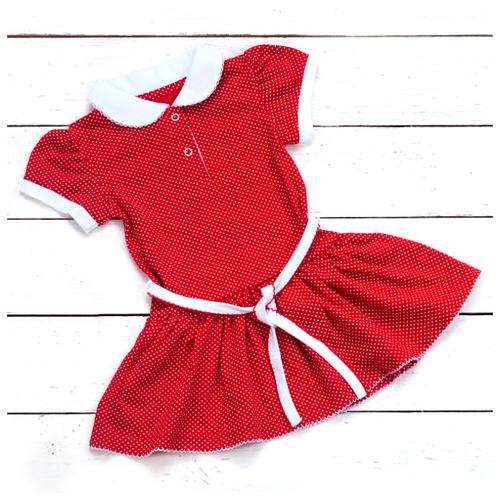 Платье АЛИСА размер 110, красный