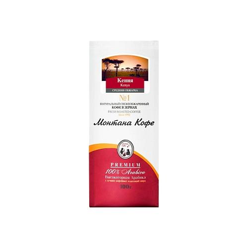 цена на Кофе в зернах Монтана Кения, арабика, 100 г