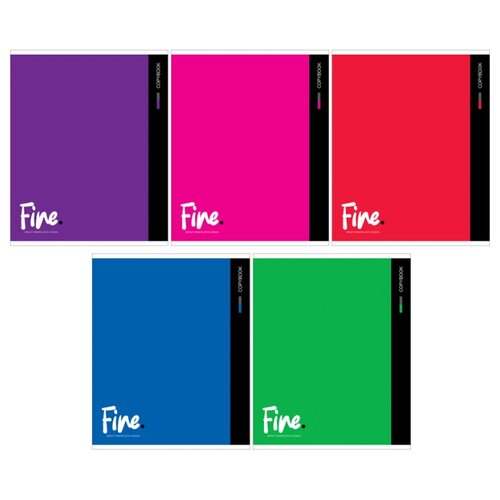 Купить ArtSpace Упаковка тетрадей Моноколор. Fine color Т80к_26687, 5 шт., клетка, 80 л., Тетради