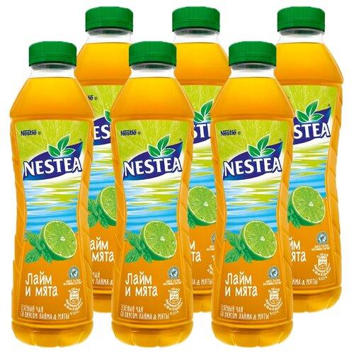 Чай Nestea Зеленый со вкусом Лайма и Мяты, ПЭТ, 1 л, 6 шт.Холодный чай<br>