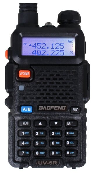 Рация Baofeng UV-5R 8W (3 режима мощности) черный