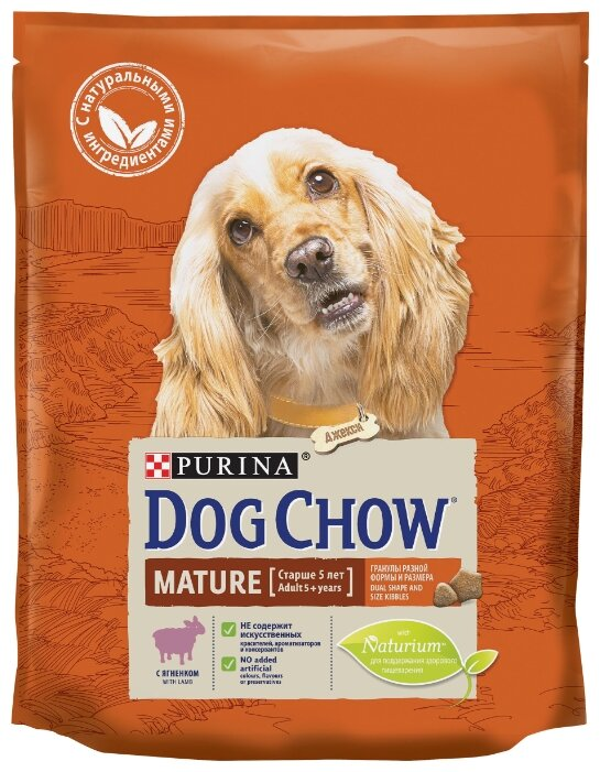 Корм для собак DOG CHOW для здоровья кожи и шерсти, ягненок 800г