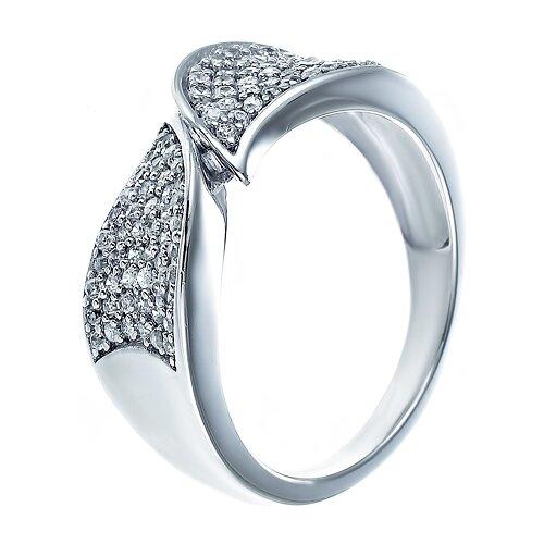 ELEMENT47 Кольцо из серебра 925 пробы с кубическим цирконием JMSR11176_KO_001_WG, размер 17