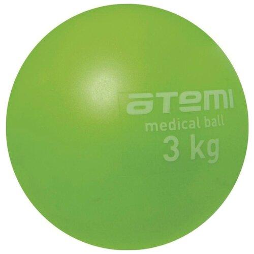 Медбол ATEMI ATB03, 3 кг зеленый atemi asgk 02