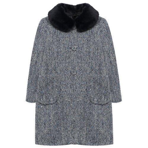 Купить Пальто Il Gufo A20GP269W5015 размер 140, синий, Пальто и плащи