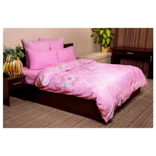 Постельное белье 2-спальное Ночь Нежна Витраж 70х70 см, бязь розовый