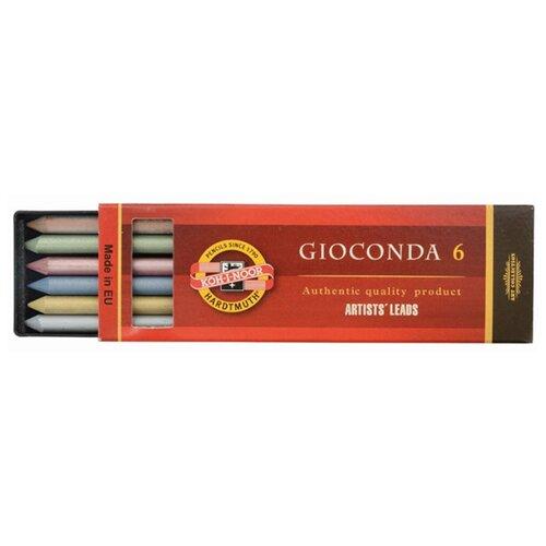 Купить KOH-I-NOOR Грифели для цанговых карандашей Gioconda, 5, 6 мм, 6 штук, Механические карандаши и грифели