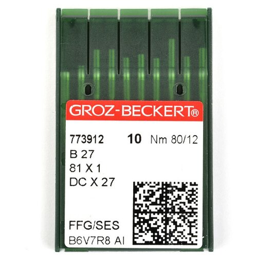 Игла для ПШМ Groz-Beckert, №80, 10 штук, арт. 773912