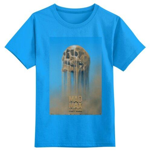 Купить Футболка Printio размер 5XS, голубой, Футболки и майки