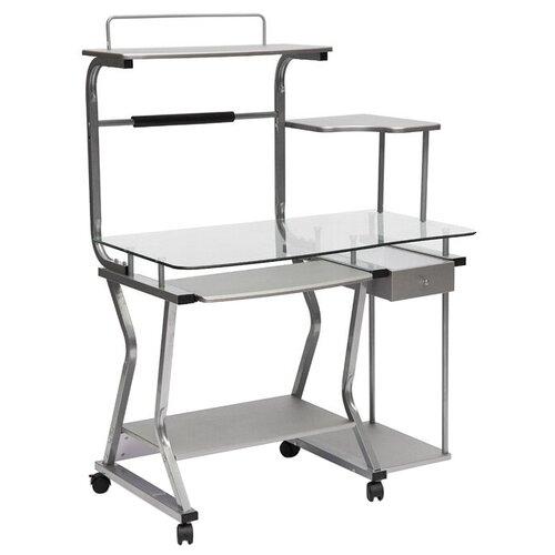 Компьютерный стол TetChair ST-S-240, 101.5х60 см, цвет: серебряный