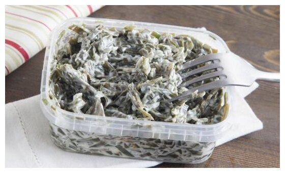 ВкусВилл салат из морской капусты в сливочном соусе
