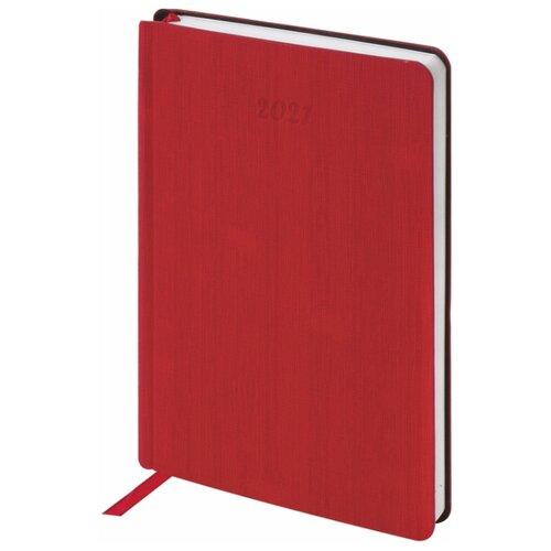Купить Ежедневник BRAUBERG Voyage датированный на 2021 год, искусственная кожа, А5, 168 листов, бордовый, Ежедневники, записные книжки