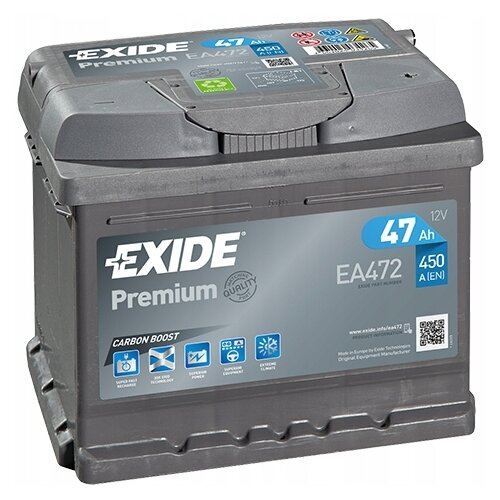 Автомобильный аккумулятор Exide Premium EA472