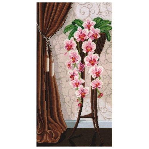 Купить Сделай своими руками Набор для вышивания крестом Ваза с орхидеями 50 х 29 см (В-13), Наборы для вышивания