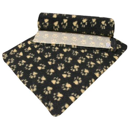 Коврик для собак и кошек ProFleece меховой с лапками 160х100 см угольный/желтый