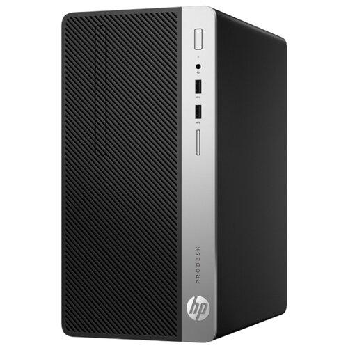 Настольный компьютер HP ProDesk 400 G6 (8PG70ES) Micro-Tower/Intel Core i3-8100/8 ГБ/1 ТБ HDD/Intel UHD Graphics 630/Windows 10 Pro черный/серебристый монитор hp 24fw 23 8 серебристый черный [4tb29aa]