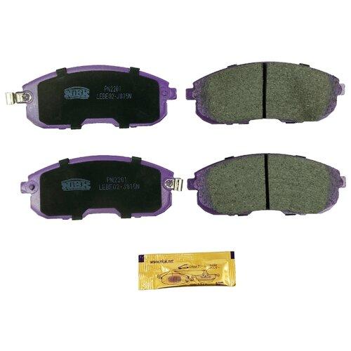 Дисковые тормозные колодки передние NIBK PN2201 для Nissan Tiida, Nissan Juke (4 шт.) дисковые тормозные колодки передние nibk pn3809 для nissan nv200 mitsubishi l200 mitsubishi pajero sport 4 шт