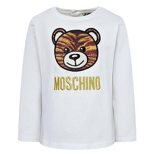 Купить Лонгслив MOSCHINO размер 74-80, белый, Футболки и рубашки