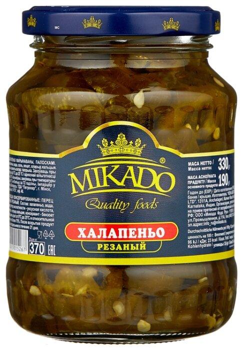 Халапеньо резаный MIKADO стеклянная банка 330 г 370 мл