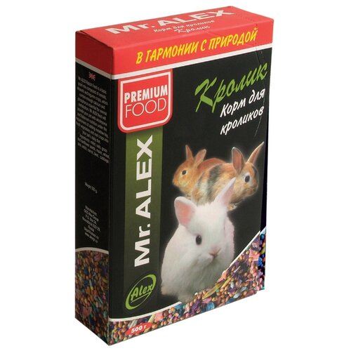 Фото - Mr. ALEX корм для кроликов Кролик 500г mr alex basic корм двп минерал 500г