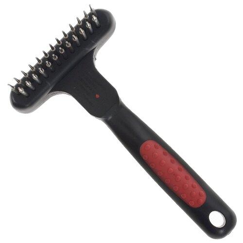 Щетка-грабли Hello PET 26825D черный/красный грабли archimedes 90884 красный