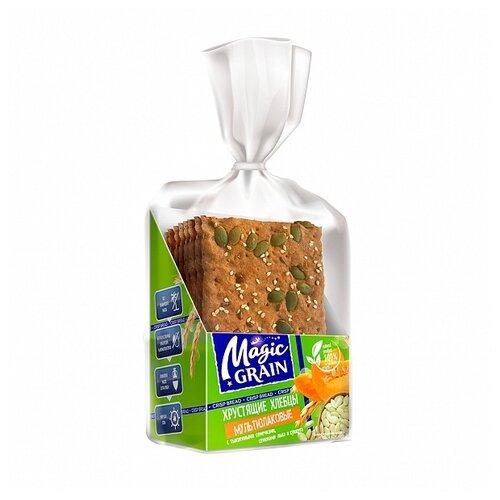 Хлебцы мультизлаковые Magic Grain с тыквенными семечками, семенами льна и кунжута 160 г батончик злаковый fortuche вишня с семенами подсолнечника льна тыквы 25 г