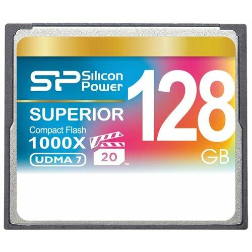 Фото - Карта памяти Silicon Power Superior CF 1000X 128 GB, чтение: 150 MB/s, запись: 80 MB/s флеш карта cf 32gb silicon power 1000x