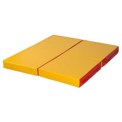 Спортивный мат 1000х1000х100 мм КМС № 11 красно/жёлтый