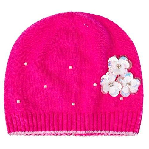 Купить Шапка-бини playToday размер 54, розовый, Головные уборы