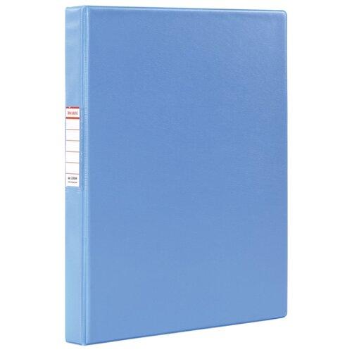 Купить BRAUBERG Папка на 2-х кольцах A4, картон/ПВХ, 35 мм голубой, Файлы и папки