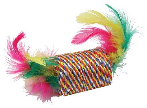 Игрушка для кошек КАСКАД Бочонок с перьями (27754646)