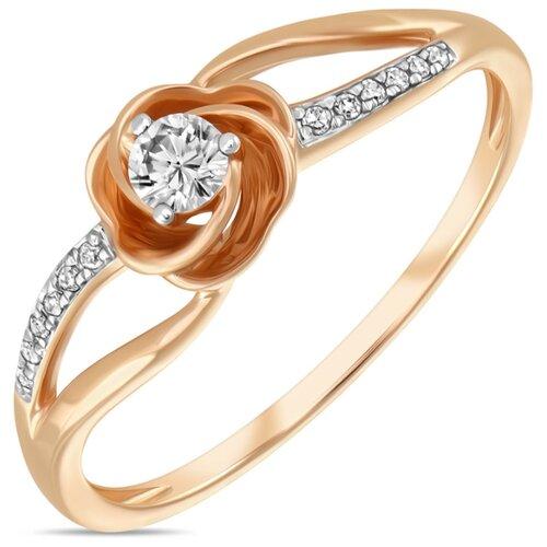 Бронницкий Ювелир Кольцо из красного золота R01-D-RR01061ADI-R17, размер 17 бронницкий ювелир кольцо из красного золота r01 d 1983089ab r17 размер 17
