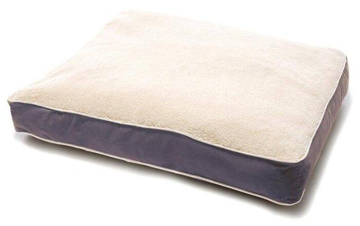 Лежак для собак Dog Gone Smart Нано мат с меховой отделкой L 100х75 см