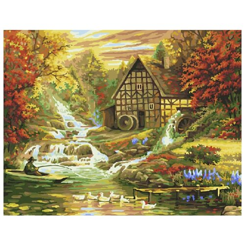 Купить Картина по номерам ВанГогВоМне ZX 20181 Дом мельника 40х50 см, Картины по номерам и контурам
