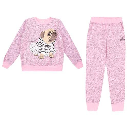 Комплект одежды Leader Kids размер 128, розовый комплект одежды looklie размер 128 134 розовый