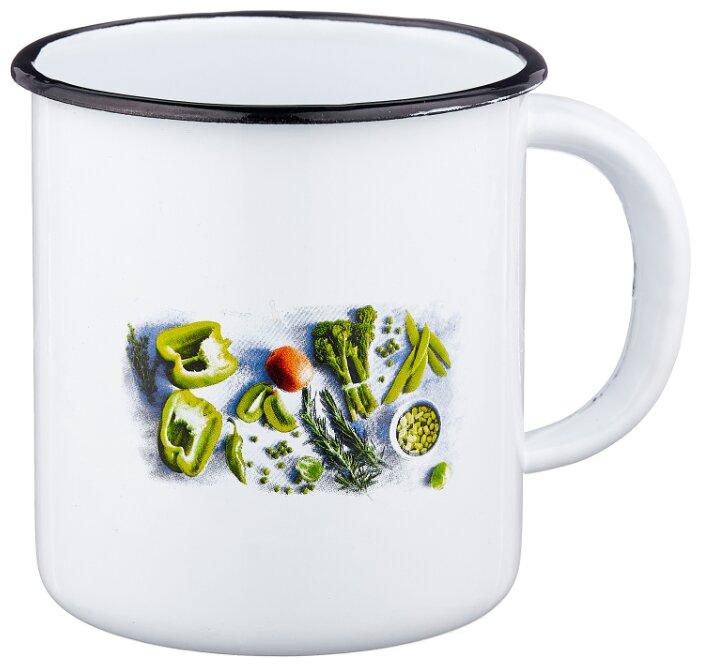 Кружка эмал Свежая зелень 1,0л ТМ Appetite 1с3с (60071644)