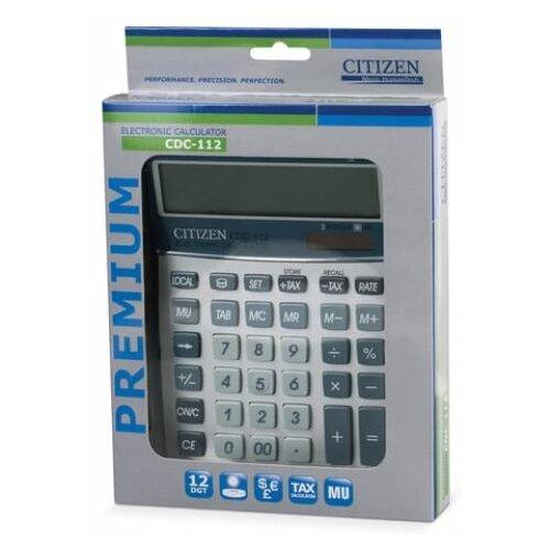 Калькулятор бухгалтерский CITIZEN CDC-112 серебристый