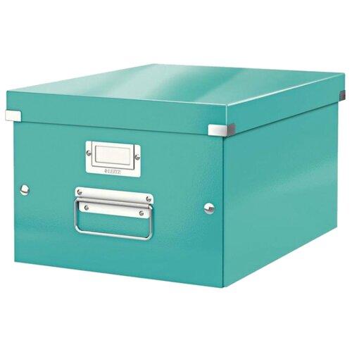 Купить Leitz Короб архивный Click & store WOW M А4, ламинированный картон бирюзовый, Файлы и папки