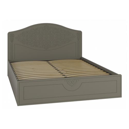 Кровать Compass Ассоль плюс АС-30, размер (ДхШ): 207х167.9 см, спальное место (ДхШ): 200х160 см, каркас: ЛДСП, цвет: лиственница/грей кровать плюс compass ас 47 лиственница грей