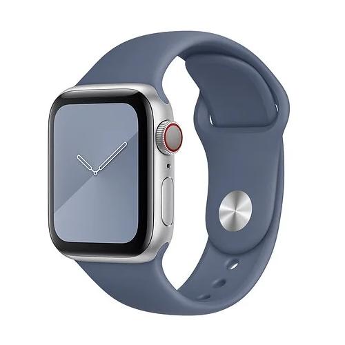 Gurdini Ремешок силиконовый для Apple Watch 42/44mm alaskan blue