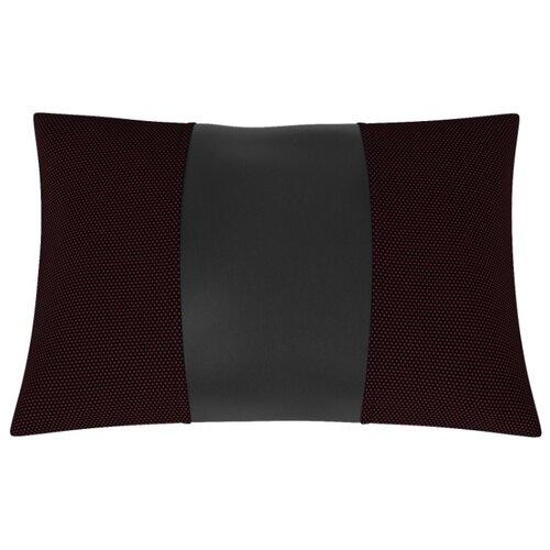 Автомобильная подушка, поясничный подпор Жаккард+Экокожа. Середина: чёрная экокожа. Боковины: жаккард Готика.
