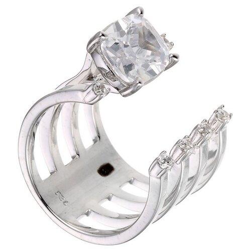 Фото - ELEMENT47 Широкое ювелирное кольцо из серебра 925 пробы с кубическим цирконием F-641R_XXX_WG, размер 15.75 element47 широкое ювелирное кольцо из серебра 925 пробы с кубическим цирконием f 642r 001 wg размер 16
