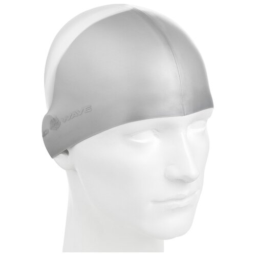 Шапочка для плавания MAD WAVE Multi BIG серый L шапочка для плавания nabaiji шапочка для плавания тканевая с принтом размер l черно–зеленая