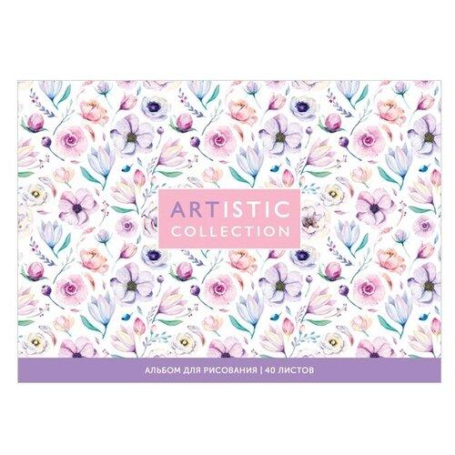 Купить Набор альбомов для рисования ArtSpace Цветы. Artistic collection 21 х 14.8 см (A5), 100 г/м², 40 л. (4шт.), Альбомы для рисования