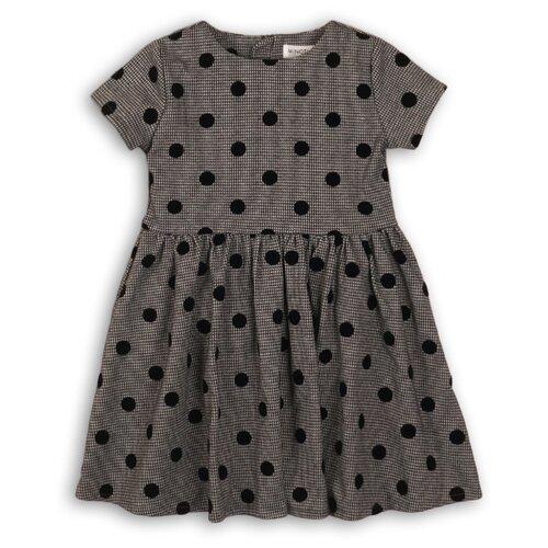 Платье Minoti размер 4-5г, серый/горох
